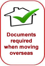 Documentation required for overseas removals