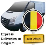 Express deliveries to Belgium