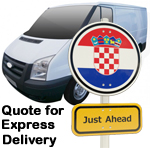 Online Quote for express Removals for removals to Croatia