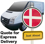 Online Quote for express Removals for removals to Denmark