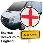 Express deliveries to England