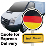 Online Quote for express Removals for removals to Germany