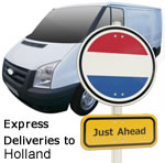 Express deliveries to Holland