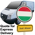 Online Quote for express Removals for removals to Hungary