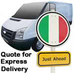 Online Quote for express Removals for removals to Italy