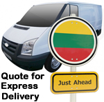 Online Quote for express Removals for removals to Lithuania