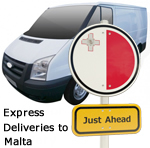 Express deliveries to Malta