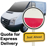 Online Quote for express Removals for removals to Poland