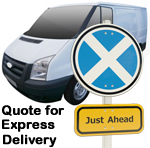 Online Quote for express Removals for removals to Scotland