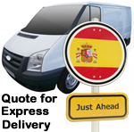 Online Quote for express Removals for removals to Spain