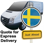 Online Quote for express Removals for removals to Sweden
