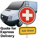 Online Quote for express Removals for removals to Switzerland