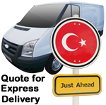Online Quote for express Removals for removals to Turkey