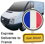 Express deliveries to France