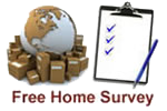 Free Home Survey for removals with Hunts International Removals