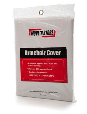 Armchair cover x 2  - Polythene